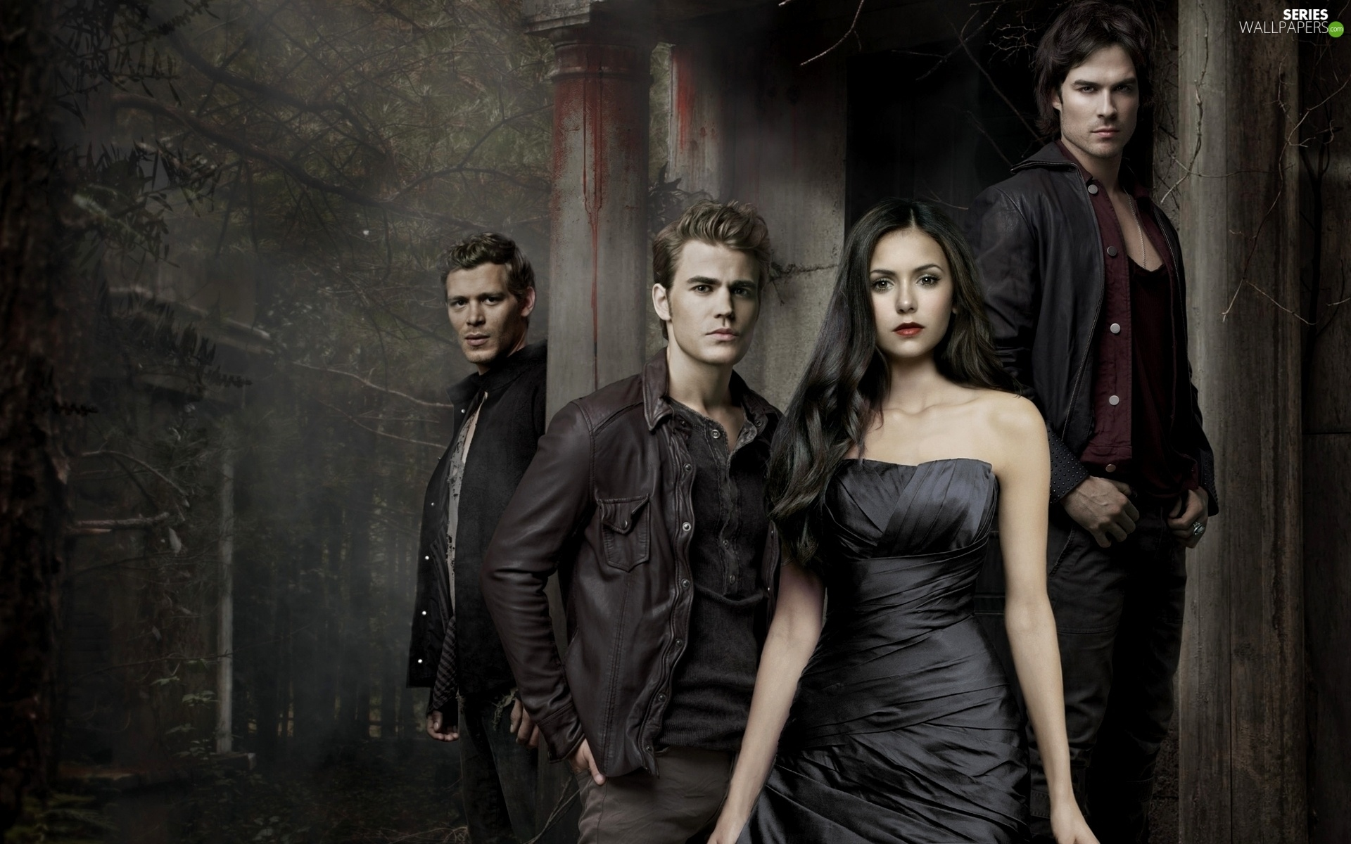Joseph Morgan, The Vampire Diaries, Paul Wesley, ian somerhalder, Nina Dobrev, The Vampire Diaries
